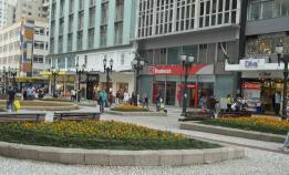 Rua Flores Centrão ctba z/c canteiro calçadão 15 quinze novembro banco bradesco comércio jardim